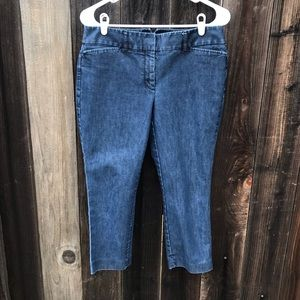 Express Dark Wash Ankle Cropped Jeans size 6